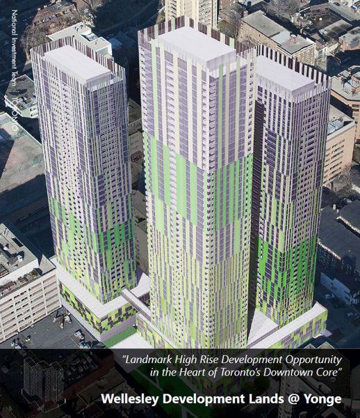CBRE Wellesley Development Lands flyer illustration