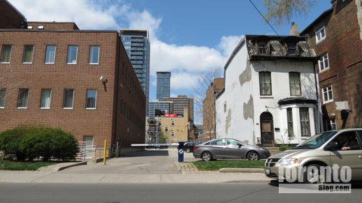 CCAS building and 34 Maitland Street Toronto