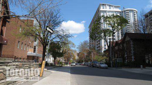 east view along Maitland Street Toronto