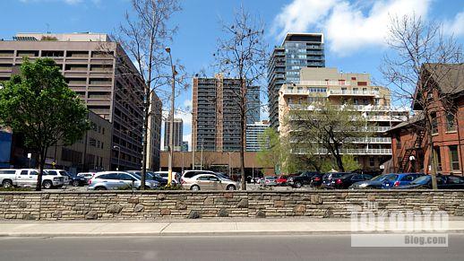 municipal parking lot at 15 Wellesley Street East Toronto