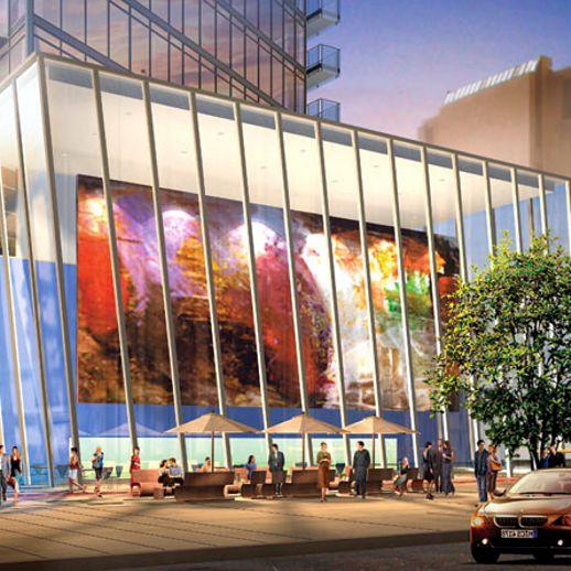 Burano condo glass lobby atrium rendering