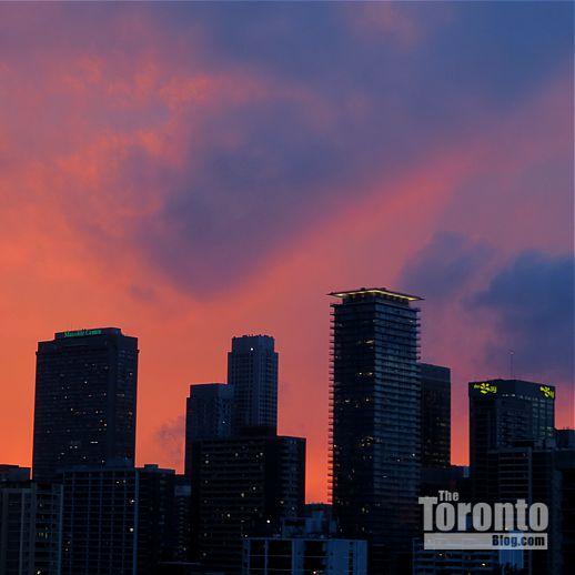Yonge & Bloor Toronto sunset