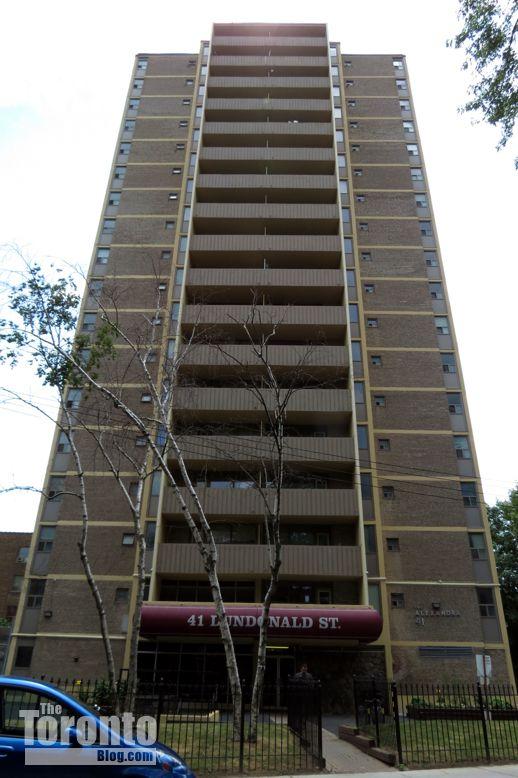 The Alexandra apartment building at 41 Dundonald Street Toronto