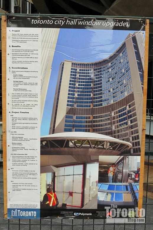 Toronto City Hall window upgrades poster