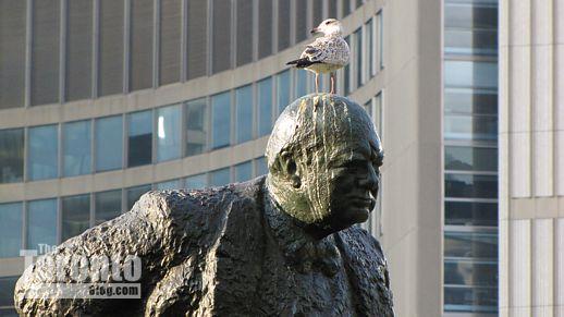 Windston Churchill statue at Toronto City Hall