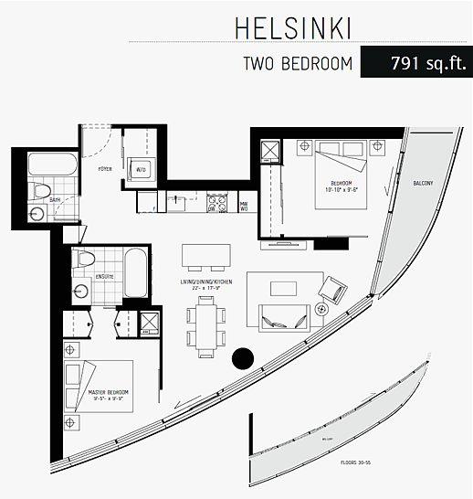 ICE 1 condominium tower Helsinki suite layout