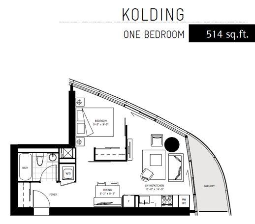 ICE 2 condominiums Kolding suite layout