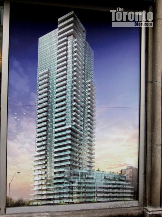 Milan condo tower billboard rendering