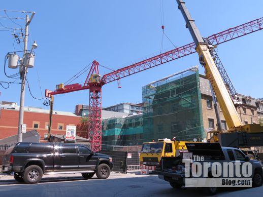 Post House Condos crane installation