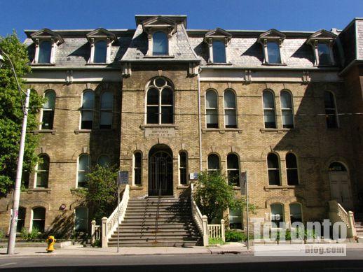de la Salle Institute historic building on Adelaide Street East Toronto