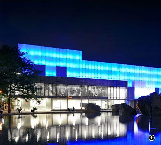 Ryerson Image Centre night photo by Tom Arban