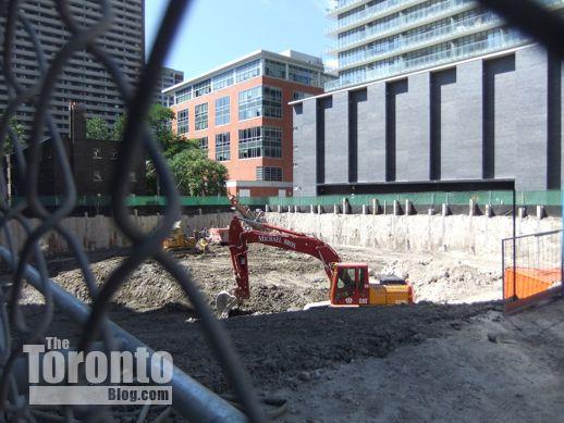 ChazYorkville condo excavation