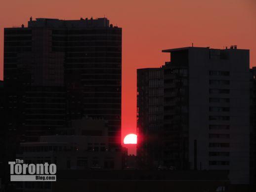 Toronto sunset August 31 2012