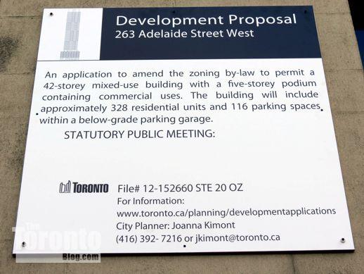 283 Adelaide West development proposal sign