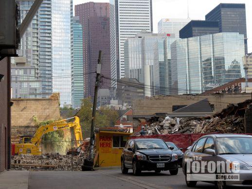 Alice Fazooli restaurant building demoliton