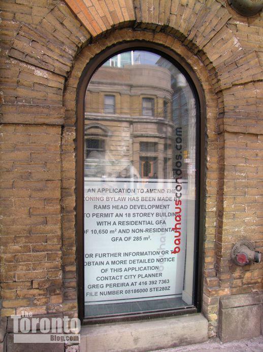 Bauhaus condos development proposal sign