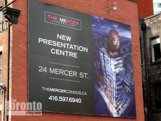 The Mercer condo sales centre