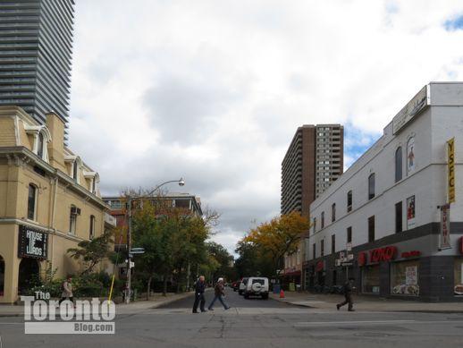 Yonge Street view of Isabella Street