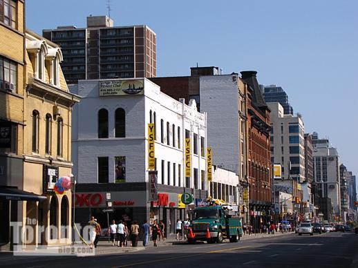 east side of Yonge near Isabella Street
