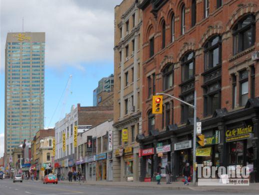 looking north on Yonge Street