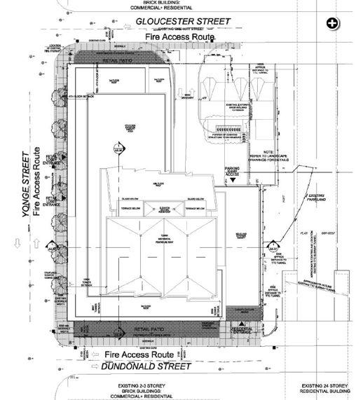 587-599 Yonge Street site plan illustration