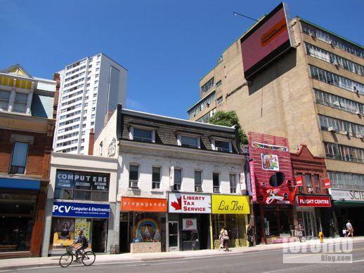 west side of Yonge opposite Isabella Street