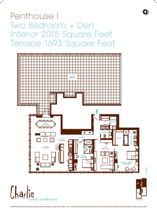 Charlie Condos PH1 floorplan