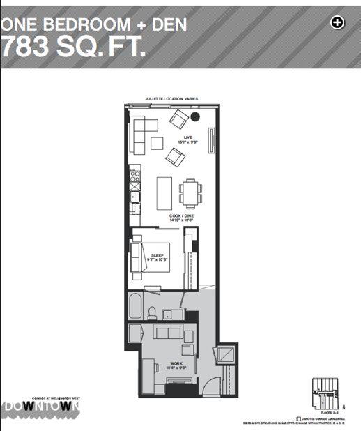 Downtown Condos floorplan illustration