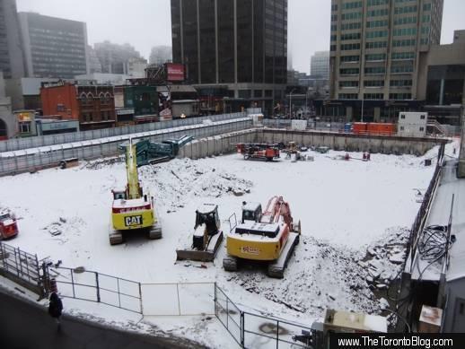 One Bloor condo construction site on December 30 2011