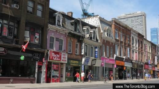West side of Yonge Street north of Wellesley Street Toronto