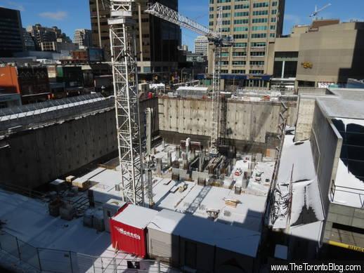 One Bloor condo construction progress February 17 2013