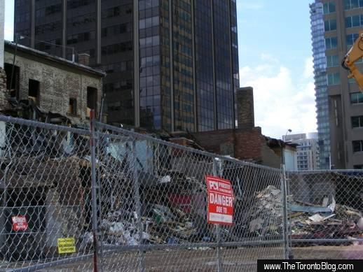 One Bloor condo site demolition