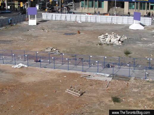 One Bloor development site November 2 2009