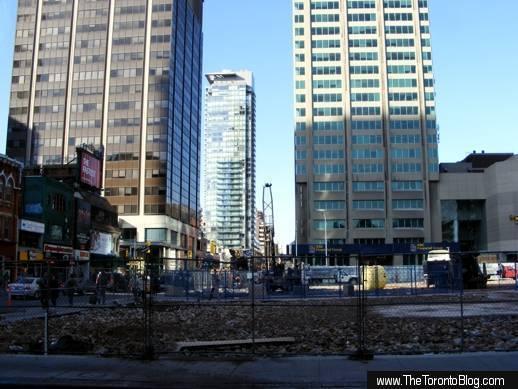 One Bloor development site October 30 2008