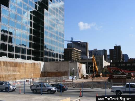 One Bloor development site September 21 2008