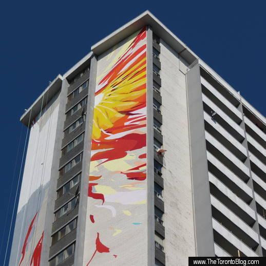 Phoenix mural on 200 Wellesley East