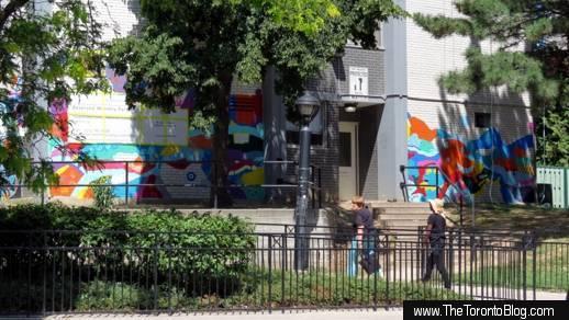 Phoenix mural at 200 Wellesley Street East