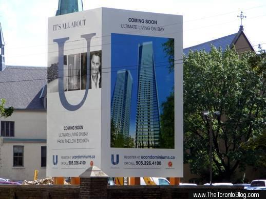U Condos promotional billboard