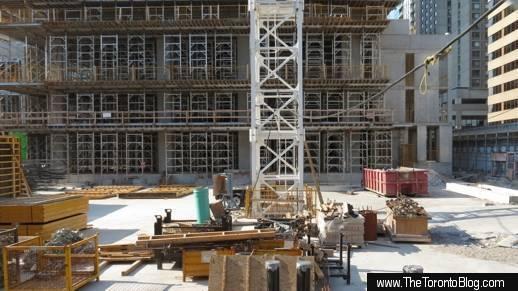 U Condos east tower construction progress south side