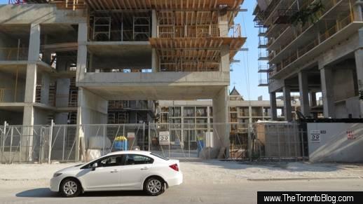 U Condos construction progress viewed from St Mary Street