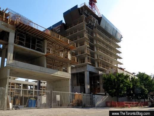 U Condos construction along St Mary Street