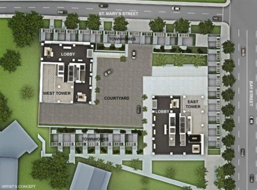 U Condos site plan illustration