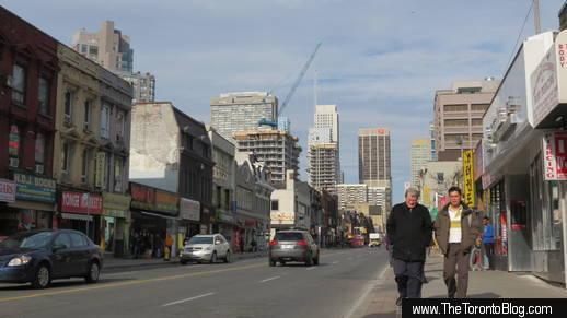 North downtown Yonge Street