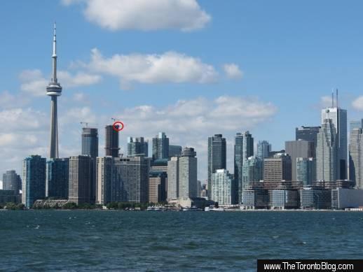 ICE Condo towers and Toronto downtown skyline