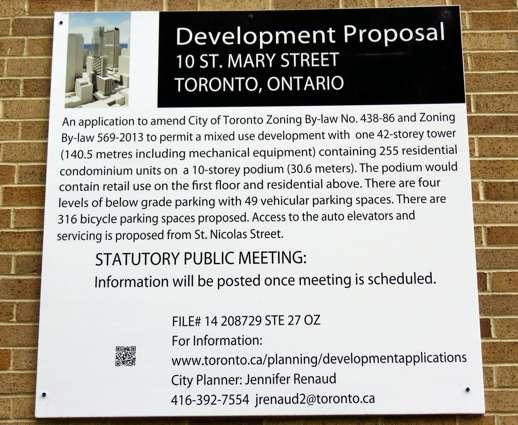 10 St Mary Street development proposal sign